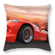 Red Viper Rt10 Throw Pillow
