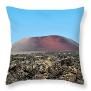 Red Volcano Throw Pillow