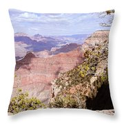 Red Wall - Grand Canyon Throw Pillow