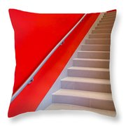 Red Walls Staircase Throw Pillow