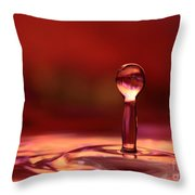 Red Water Drop Throw Pillow