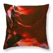 Red Wave Throw Pillow