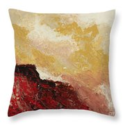 Red Waves Throw Pillow
