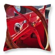 Red Wheel Throw Pillow