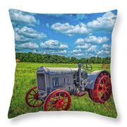 Red Wheels Throw Pillow