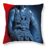 Red White And Bane Throw Pillow