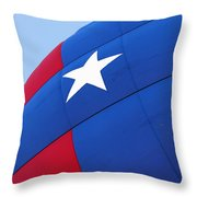 Red White And Blue Balloon Throw Pillow