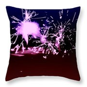 Red White And Blue Fireworks Throw Pillow