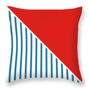Red White And Blue Triangles 2 Throw Pillow