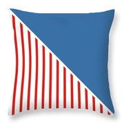 Red White And Blue Triangles Throw Pillow by Linda Woods