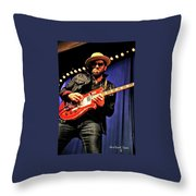 Red, White, And  Blues Man Throw Pillow