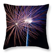 Red White And Boom Throw Pillow