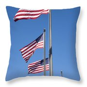 Red White Blue Throw Pillow
