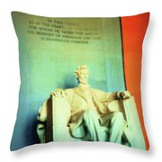 Red White Blue Lincoln Throw Pillow