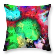 Red Wigged Lollipop Throw Pillow