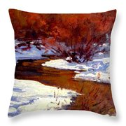 Red Willow Creek Throw Pillow