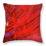 Red Wind Throw Pillow