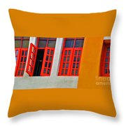 Red Windows Throw Pillow