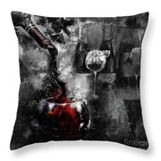 Red Wine 01 Throw Pillow