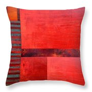 Red With Orange 2.0 Throw Pillow