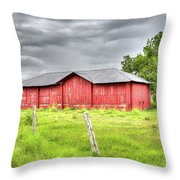 Red Wood Barn - Edna, Tx Throw Pillow