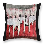 Red Woods Angels Black Like Me Throw Pillow
