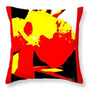 Red Yellow Abstract Throw Pillow