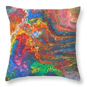 Red Yellow Blue Abstract Throw Pillow
