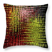 Red Yellow White Black Abstract Throw Pillow