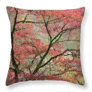 Red Zen Throw Pillow