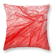 Red.285 Throw Pillow