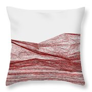 Red.317 Throw Pillow