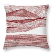 Red.319 Throw Pillow