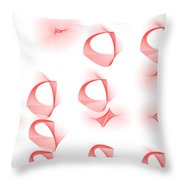 Red.445 Throw Pillow