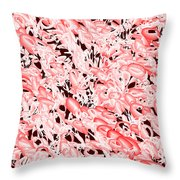 Red.532 Throw Pillow