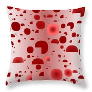 Red.833 Throw Pillow