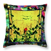 Redbird In The Valley Of Beautiful Possibilities Throw Pillow