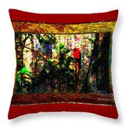 Redbird Sifting Beauty Out Of Ashes Throw Pillow