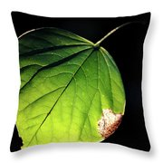 Redbud Leaf Throw Pillow