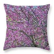Redbud Tree Throw Pillow