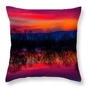 Reddening Sunset Throw Pillow
