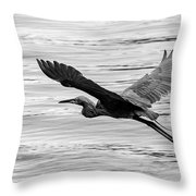 Reddish Flight Bw Throw Pillow