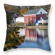 Redd's Pond Boathouse Marblehead Ma Massachusetts Throw Pillow