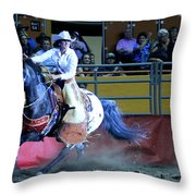 Rodeo Queen At The Grand National Rodeo Throw Pillow