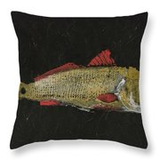 Redfish Throw Pillow by Captain Warren Sellers
