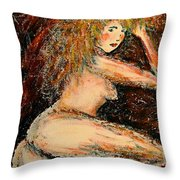 Redhead Dancer Throw Pillow