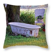 Redneck Hot Tub Throw Pillow