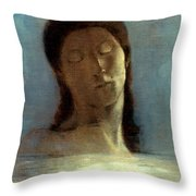 Redon: Closed Eyes, 1890 Throw Pillow