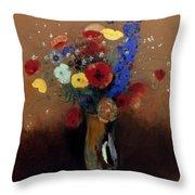 Redon: Wild Flowers, C1912 Throw Pillow