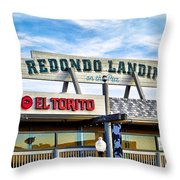 Redondo Beach Pier Closeup Throw Pillow